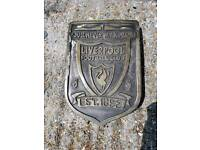 Liverpool football club stone ornament/badge/plaque