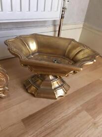 Xmas ornate rococo gold fruit bowl display item