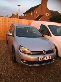 2010 VOLKSWAGEN GOLF GT TDI 140 S-A Silver Full black leather