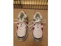 Marks & Spencer girls pink/white trainers size uk2