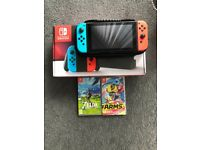 Nintendo Switch & Two Games