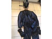 Complete set of motorcycle leathers