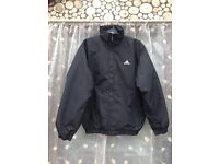 Men's adidas black puffer coat, size small (36/38)