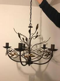Luxury Chandelier large 60 diameter gunmetal & copper finish Barker and Stonehouse as new