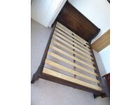 Kingsize low end sleigh bed frame