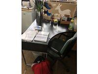 Black corner desk going free!