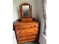 Ducal Rosedale 4 Drawer Chest of Drawers plus Vanity Mirror