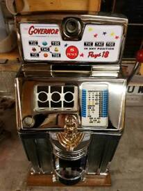 Jennings governor empty cabinet spares or repairs penny machine