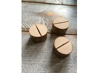 Wooden log table placeholders for sale