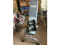 York Weights Bench + 2 Dumbbells (15kg)
