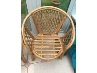 PAIR OF GENUINE INDONESIAN CANE CONSERVATORY GARDEN CHAIRS ARTISAN MADE AND COMFORTABLE