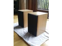 Pair of Gale bookshelf speakers with wall brackets