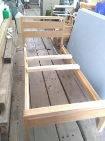 Single bed frame solid wood