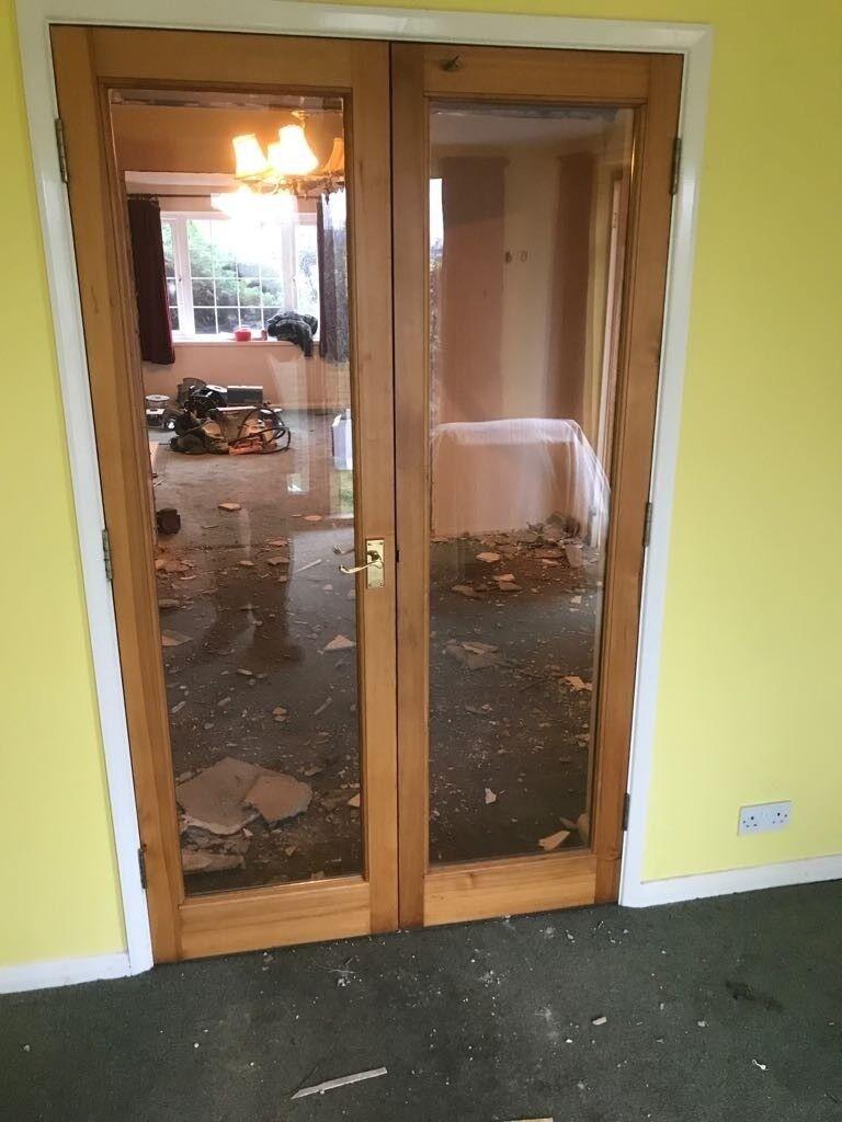 Solid Pine Double Glazed Double Internal Doors X 2 In York North