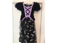 Halloween witches dress with hat and broom
