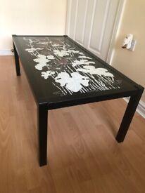 Living room coffee table.