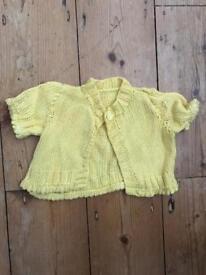 Beautiful homemade baby girl knits 3m - 9m