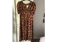Quiz leopard print dress size 18