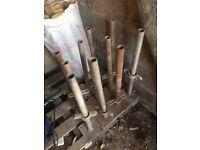 Adjustable scaffold base screwjack for levelling platforms, 500mm, screw-jack, screw jack
