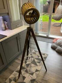 Tripod wooden standing lamp light excellent condition shabby chic South Shields