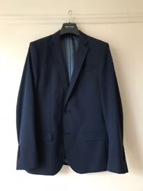 Mens Navy River Island Suit