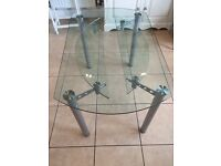 Glass dining table from Dansk