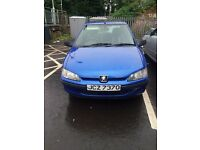 Car- Genuine low mileage Peugeot (not ford,Clio, Vauxhall, Volkswagen Golf)