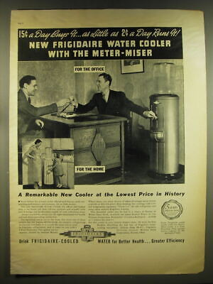 1937 Frigidaire Water Cooler Ad - 15¢ a day buys it.. As little as 2¢ a day