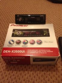 Pioneer DEH-X3500UI CD Player USB/AUX MIXTRAX COLOR CHANGING Android iPhone VGC FOR A NURSES CHARITY