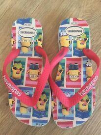 Boys or girls minions flip flops