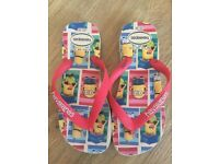 Boys or girls minions flip flops