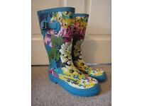 Joules wellies or wellington boots with flowers size UK 3 £10 Joules wellies with stars size UK 10