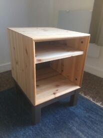 IKEA Nornas Pine Bedside Table