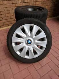 4 BMW 1 series winter tyres & wheel trims