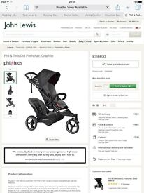 Double stroller - Phil & ted john lewis