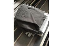 Grey Ikea Curtains AND pair blackout curtains pencil pleat heading