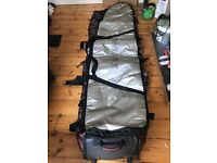 8ft Surfboard bag - Dakine with wheels and additional bags