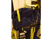 NEW Trespass Iggy Waterproof backpack Saphire 45 Litres
