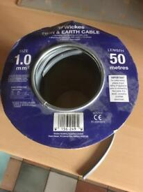 1.0mm twin and earth cable