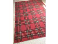 Red tartan rugs x 2