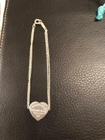Return to Tiffany heart tag bracelet sterling silver genuine