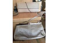 4 new Evening bags silver black nude diamonte clutch handbag Crystals beautiful satin