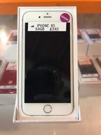 iPhone 6s, 64gb, unlocked, silver