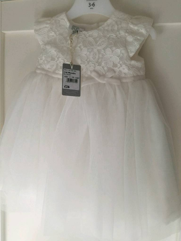 99c3999d1f93c JR beautiful Christening Dress 3-6 months with cardigan