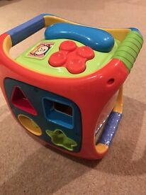 ELC musical shape sorter/activity cube, with phone - as new