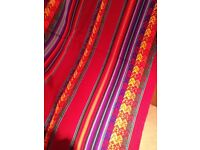 Genuine Peru, Peruvian textiles – bought in Cusco double bed throw