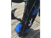 Two child/ junior golf bag/ sets and trolley