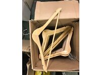 Great quality wooden coat hangers £40 for 100