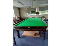 Full sized snooker table free to collect