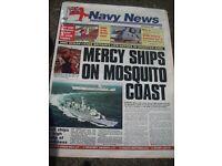 "Back copies of ""NAVY NEWS"""